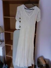 Ladies vintage style cream lace dress, wedding, special occasion. Brand new.
