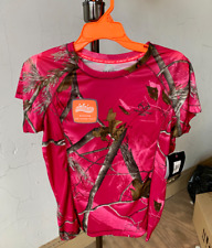 "Realtree Women's Camo Short Sleeve Performance T-Shirts ""Pink"""
