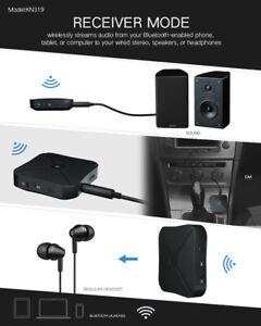 2 In 1 Blue Tooth 5.0 Wireless Audio Aux 3.5mm Adapter Sender Und Empfänger DE