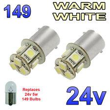 2 x LED bianco caldo 24v ba15s 149 r5w 8 SMD LAMPADINE Targa Laterali Interni CAMION MEZZI PESANTI