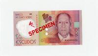 Cape Verde - 200 Escudos 2014 SPECIMEN - Polymer - Pick new - Scarce