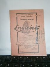 Catalogue  pub auto tarif Pneu à cordes Englebert année 1929