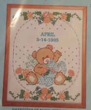 """JACK DEMPSEY NEEDLE ART Baby Embroidery Sampler """"Bear and Bunny"""" Pattern 2003"""
