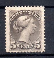 Canada QV 1870 5c mint MH grey WS15415