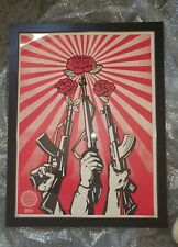 """OBEY -  GUNS N ROSES - AUTHOR PROOF (AP) - FRAMED - 24"""" X 18"""""""