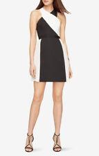 $298 New Women's BCBG Delilah Color-Blocked Dress SZ 10 Black & White