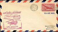 USA HELICOPTER AIR MAIL 1st FLIGHT Cover Feb, 7,1948 CALIFORNIA. - NEW YORK