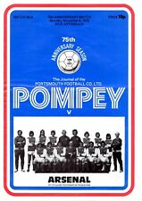 Portsmouth v Arsenal programme, friendly, November 1973, good condition