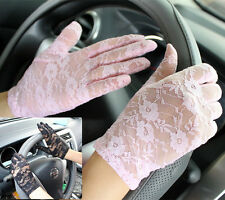 White/Black/Red Lady Party Costume Wedding Floral Lace Gloves / glove