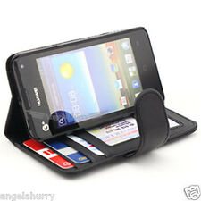 Huawei Ascend Y300 Case, New Credit Card Flip Wallet Leather Cover For Telstra