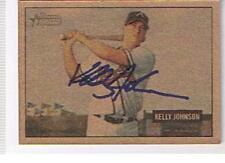 KELLY JOHNSON 2005 BOWMAN HERITAGE  AUTOGRAPHED CARD . BRAVES