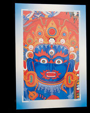 CARTE POSTALE TIBETAINE DEITE MAHAKALA  NEPAL 9276