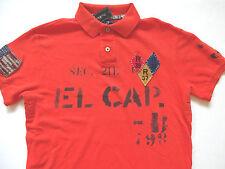 New Ralph Lauren Polo Custom Fit Orange USA Patch El Cap Summer Shirt S