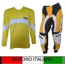 combinaison pour moto cross pantalon + maillot jaune S M XXL NEUF