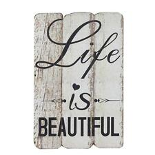 Wooden Wall Decorative Sign Life Is Beautiful Decor Home Rustic Wedding New