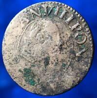 AVIGNON DOUBLE TOURNOIS 1636 PAPE URBAIN VIII MONNAIE PAPAL STATES COIN PONT MAX