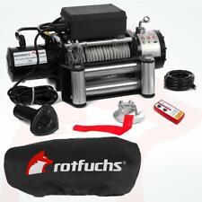 ROTFUCHS® Elektrische Seilwinde 13000lbs 5909kg 12V Offroadwinde Motorwinde Funk