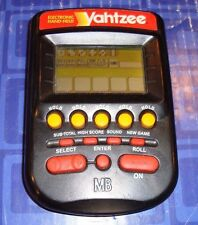 YAHTZEE Electronic Handheld Travel Game MB With Instructions Black Color