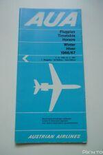 Timetable Horaire de poche AUA Austrian Airlines 1966/67