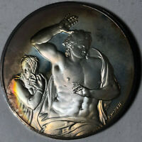 Christ the Judge with Mary, The Genius of Michelangelo Sterling Silver Medal