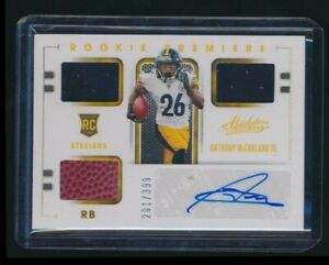2020 ABSOLUTE JERSEY AUTO ANTHONY MCFARLAND JR STEELERS ROOKIE PREMIERE 201/393