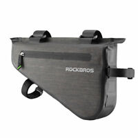 ROCKBROS Waterproof Bike Bicycle Triangle Bag Cycling Tube Frame Bag 5L