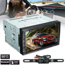 7'' Double 2Din HD Bluetooth Touch Screen Car Radio CD DVD Stereo Player +Camera