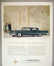Continental Mark III Landau PRINT AD - 1958 ~~ coat by B.H. Wragge