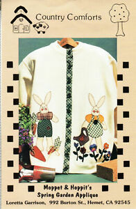 """Country Comforts Pattern Packet  """"Moppet & Hoppit's Spring Garden Applique"""" new"""