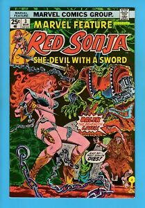 MARVEL FEATURE # 3 VFNM (9.0) RED SONJA- THORNE ART- HIGH GRADE CENTS COPY- 1976