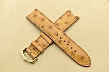 Cartier Watch Strap Rare PASHA BEIGE OSTRICH 20x18mm Gold Tang Buckle Authentic