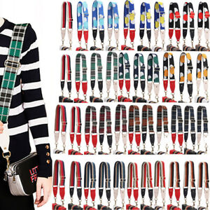 Wide Dual Stripes Shoulder Bag Strap Crossbody Wallet Handle Satchel Replacement