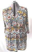 Loving it Blouse Top Shirt Women's 3/4 sleeve Printed Vneck  Sz 3x Plus NEW NWT
