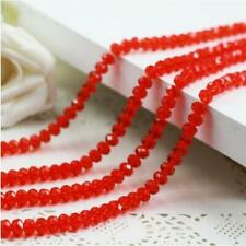 Chic 4 mm 71pc Faceted Rondelle Bicone Crystal Jewelry scattered Beads Red