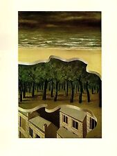 """1974 Vintage MAGRITTE """"POPULAR PANORAMA, POPULAIRE"""" COLOR offset Lithograph"""