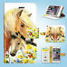Horse Racing Wallet Case Cover Samsung Galaxy S3 4 5 6 7 8 Edge Note Plus 007