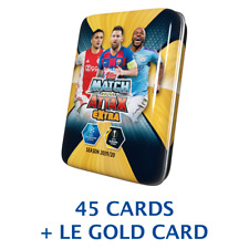 2019-20 TOPPS MATCH ATTAX EXTRA Champions League Mini MESSI cubierta de estaño 45 Tarjetas