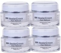 4 PACK HealerCream Pain Relief Cream - Natural Arthritis and Back Pain Reliever