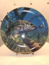 """The Danbury Mint """"Lunch"""" Plate Bass Beauties Collection by Mark Susinno Limited"""
