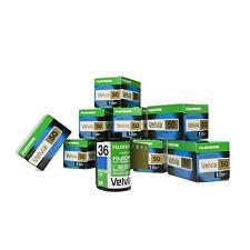 10x Fujifilm Fuji Velvia 50 RVP 135-36 Diafilm Kleinbildfilm Kleinbild Farbfilm