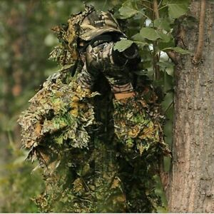 Cabela's  3D Leafy Camo Suit Hooded Ghillie Hunting LARGE - MED Green Woodland
