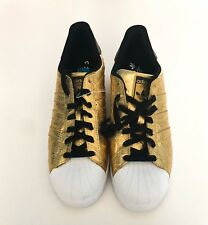 a1579c48a1f04 ADIDAS ORIGINALS SUPERSTAR SHOES METALLIC GOLD WHITE SIZE 10 BRAND NEW  AQ4702