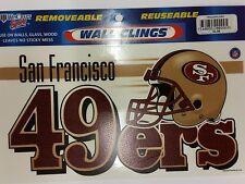 "NFL San Francisco 49ers 4.5"" x 8.5"" Wall Cling (Lot of 3 Clings)"