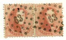 BELGIUM #16, used, pair Scott $50.00