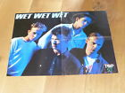 WET WET WET - RARE FRENCH VINTAGE POSTER FROM THE 80'S !!!!!!!!!!!!!!!!