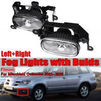Left & Right Front Fog Lights Lamp W/ Bulds For 2003-2006 Mitsubishi Outlander