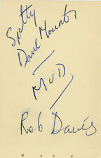 MUD Mount & Davies Vintage 1968 SIGNED AUTOGRAPHS BBC Radio 1 Club AFTAL UACC
