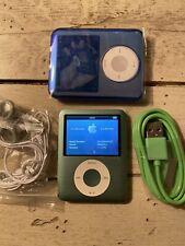 Apple iPod Nano 3rd Generation Light Green 8Gb Used Bundle