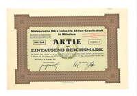 Süddeutsche Büro-Industrie AG  1000 RM  1922  München