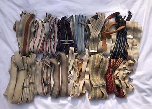 Joblot Vintage Braces Suspenders 19 Lot Reseller Wholesale Mixed Colours Styles